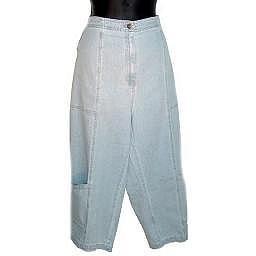 DENIM AND COMPANY Bleaced Denim Stretch Crop Jeans SZ 20