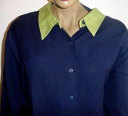 SUSAN GRAVER Linen/Rayon Jacket, Tank and Pants SZ 3X