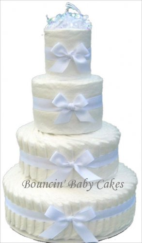 4 Tier Undecorated, Do It Yourself Diaper Cake