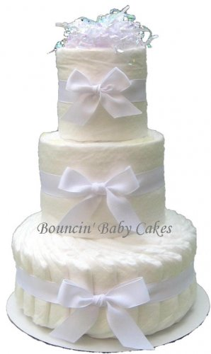 3 Tier Undecorated, Do It Yourself Diaper Cake