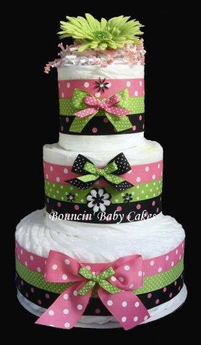 Retro Mommy Diaper Cake, Baby Shower Centerpiece