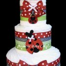Ladybug Diaper Cake, Baby Shower Gift and Centerpiece