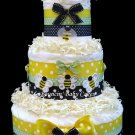 Bumble Bee Diaper Cake, Baby Shower Centerpiece, Nursery Gift