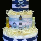 Nautical Blue Lighthouse Baby Shower Diaper Cake