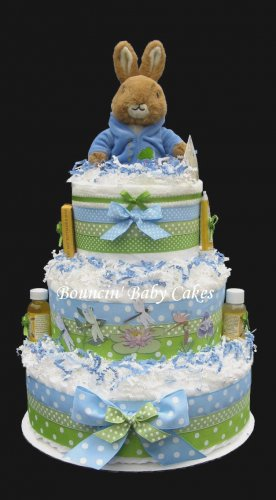 Peter Rabbit Baby Shower Diaper Cake/ Centerpiece Gift