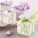 """Baby's Day Out"" Laser-Cut Carriage Favor Boxes -Lavender or Sage (Set of 24)"