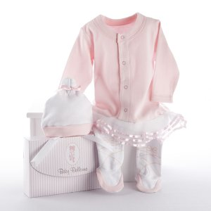 &quot;Big Dreamzzz&quot; Baby Ballerina Two-Piece Layette Set in &quot;Studio&quot; Gift Box