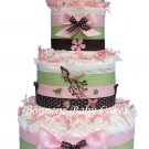 Trendy Birds Baby Shower Diaper Cake Centerpiece