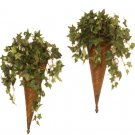 Basket Weave Ivy Planters - Set of 2