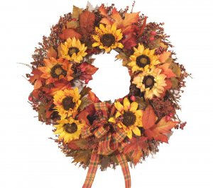 Fall Sunflower Wreath