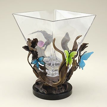 Imperial Butterfly Square Vase