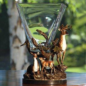 Imperial Deer Square Vase
