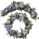 Lavender Hydrangea Arch and Wreath