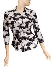 LADIES TOP/ BOUSE WITH BELT BLACK