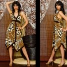 celebrity leopard evening dress cocktail wedding partygown