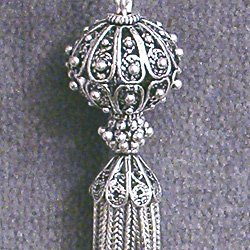 TURKISH STERLING SILVER TASSEL 4.5in 21.3 gram