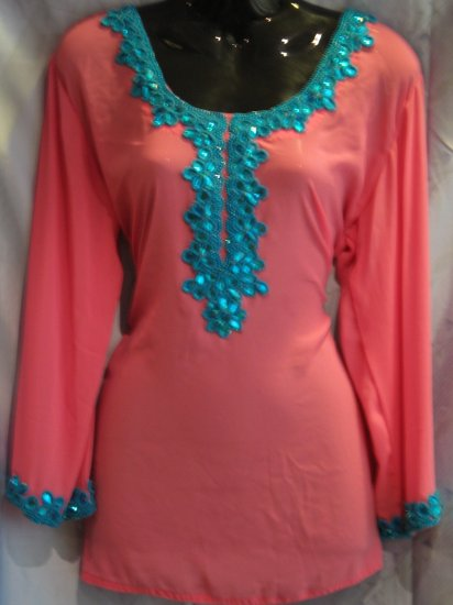 Semi Georgette Machine Pink Kurti