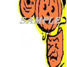 Halloween Pumpkin Mask Die Cut Corner Window Prop