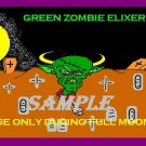 Green Zombie Elixer Halloween Bottle Label Prop