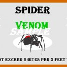 Spider Venom Halloween Bottle Label Prop