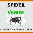 Spider Venom Halloween Bottle Label Prop