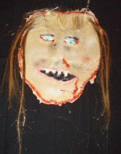 Skinned Bld Hair Face Halloween Haunted House Prop Props