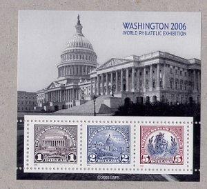 Washington 2006 Souvenir sheet Scott 571, 572, 573 Reprint Scott 4075a, b, c