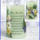 #34040 Bless This Home Candle with Dried Flowers