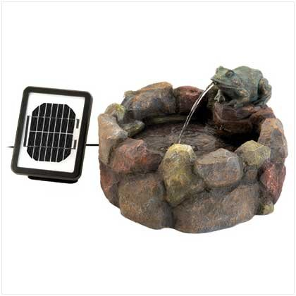 #12843 FROG HOLLOW SOLAR WATER FOUNTAIN