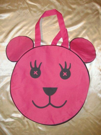 Pink bear bag