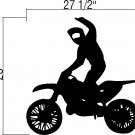 Wall Vinyl Decal Sticker - Dirtbike Rider MX X Games #3
