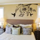 Hummingbirds and Modern Tree Branch Decal Sticker Wall Mural