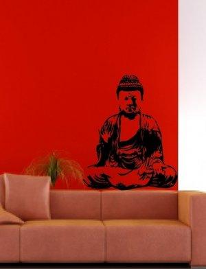 Wall Mural Decal Sticker Home Buddha India Meditation