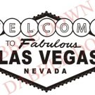BIG Welcome to Las Vegas Sign Decal Sticker Wall Mural Gambling Poker