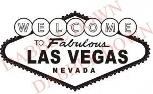 BIG Welcome to Las Vegas Sign Decal Sticker Wall Mural Gambling Poker