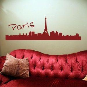 Paris France City Skyline Decal Sticker Eiffel Tower Sexy Graphic Art Big
