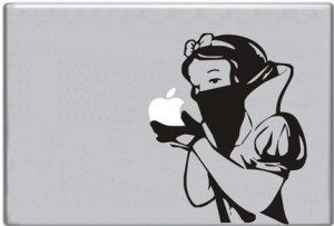 Snow white eating apple Macbook decal sticker mac skin
