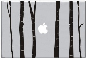 Birch Trees Decal for Laptop Macbook Mac Apple Computer