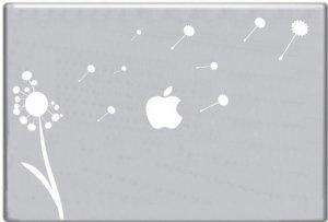 Blowing Dandelion Decal Sticker for Macbook Mac Apple Computer