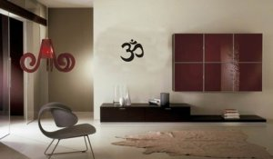 SMALL OM SYMBOL WALL DECAL STICKER BUDDHA ABSOLUTE BRAHMAN HINDU