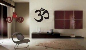 LARGE OM SYMBOL WALL DECAL STICKER BUDDHA ABSOLUTE BRAHMAN HINDU