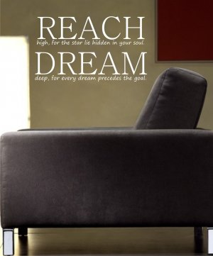 REACH DREAM decal sticker wall nice beautiful words quote children