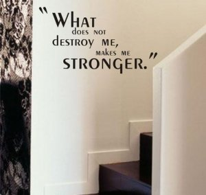 What Does Not Destroy Me Wall Quote Decal Sticker Art Graphic Inspiration Tattoo