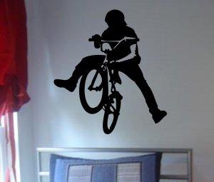 BMX Biker Decal sticker wall cool boy girl sports
