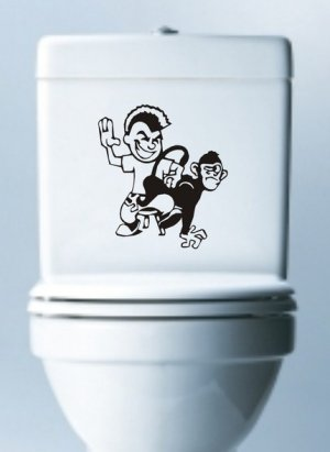 Spank The Monkey Decal Sticker Toilet Laptop Window Funny