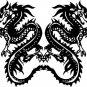 Twin Tribal Dragons Wall Decal Sticker Mural Art Graphic Dragon Kid Boy Room Asian
