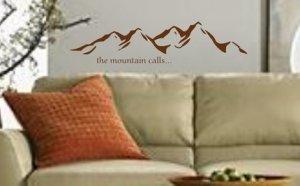 Mountain Landscape Decal Sticker Wall Art Graphic Alps Climbing Mountains