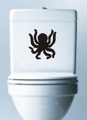 Octopus Toilet Decal Sticker Wall Graphic Ocean Animal Ocho Funny Bathroom