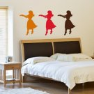 Hula Girls Dancing Decal Sticker Wall Vinyl Art Graphic Hawaii Luau Party Hawaiian