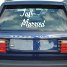 Just Married Decal Sticker Window Wedding Car Truck Newlyweds Marraige